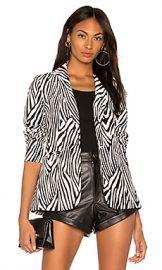 FRAME Zebra Blazer in Noir Multi from Revolve com at Revolve