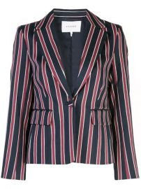 FRAME single-breasted Striped Blazer - Farfetch at Farfetch