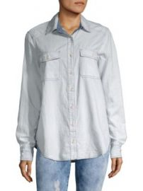 FREE PEOPLE - BANDANA BANDIT BUTTON-DOWN SHIRT at Saks Off 5th