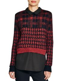 FRENCH CONNECTION Layered Effect Printed Sweater at Bloomingdales