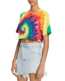 FRENCH CONNECTION Pride Cropped Tie-Dyed Cotton Tee Women - Bloomingdale s at Bloomingdales