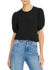 FRENCH CONNECTION Puff Sleeve Jersey Top Women - Bloomingdale s at Bloomingdales