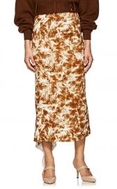 FUR-PRINT ASYMMETRIC MIDI-SKIRT at Barneys