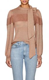 Fabia Cashmere-Blend Tieneck Sweater at Barneys