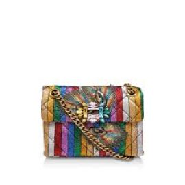 Fabric Mini Mayfair X Rainbow Embellished Shoulder Bag at Kurt Geiger