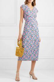 Fabrizia floral-print jersey wrap dress at Net A Porter