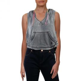 Faded Sleeveless Cropped Activewear Hoodie by FP Movement at Free People at Overstock