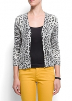 Faded leopard cardigan by Mango at Mango