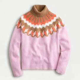 Fair Isle Turtleneck Sweater  at J.Crew