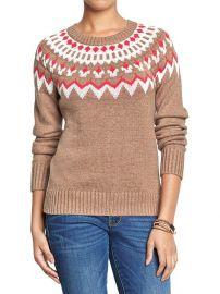 Fair Isle sweater at Gap