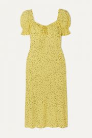 Faithfull The Brand - Evelyn floral-print crepe midi dress at Net A Porter