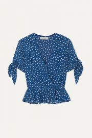 Faithfull The Brand - Lucy ruffled floral-print crepe wrap top at Net A Porter