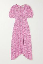 Faithfull The Brand - Vittoria checked crepe midi dress at Net A Porter