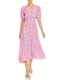 Faithfull the Brand Vittoria Plaid Midi Dress Women - Bloomingdale s at Bloomingdales