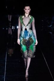 Fall 2013 Feather Dress at Gucci