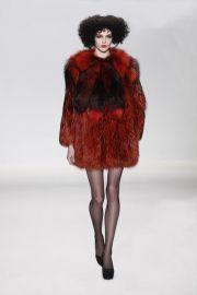 Fall 2015 Red Fur Coat at Georgine