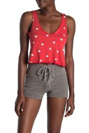 Falling Hearts Lettuce Trim Doutzan Tank Top at Nordstrom Rack