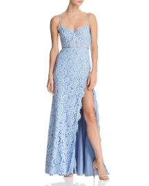 Fame and Partners The Kirsten Lace Bustier Gown at Bloomingdales