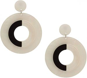 Fame Hoops - Black and White Resin Hoop Earrings at Amazon