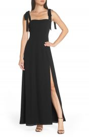 Fame and Partners Tie Shoulder Gown   Nordstrom at Nordstrom
