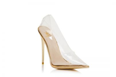 Fancy Stiletto Gold Pumps by Jessica Rich at Jessica Rich