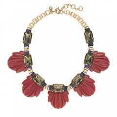 Fanned Leaf Necklace at J. Crew