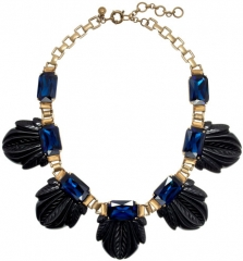 Fanned Leaf Necklace in black at J. Crew