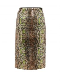 Fantasia Sequinned Snake-Pattern Pencil Skirt by No.21 at Matches
