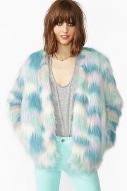 Fantasy Faux Fur Jacket at Nasty Gal