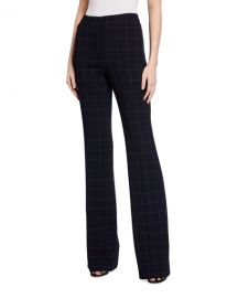 Farida Windowpane Pants at Neiman Marcus