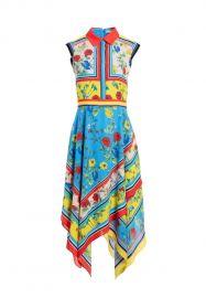 Farrah Handkerchief Dress by Alice + Olivia at Alice and Olivia