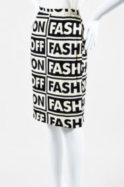 Fashion On Fashion Off Print Skirt by Moschino at Farfetch