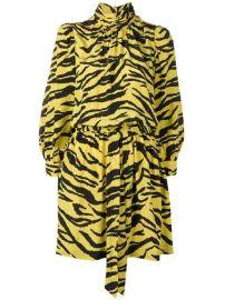 Fashion Show tiger print dress at Farfetch