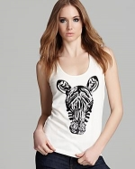 Fast Nairobi Zebra Tank by French Connection at Bloomingdales