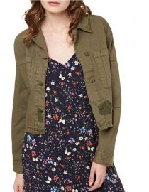Fatigue Crop Cotton Military Jacket Sanctuary at Lord & Taylor