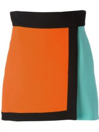 Fausto Puglisi Colour Block Wrap-style Skirt - at Farfetch