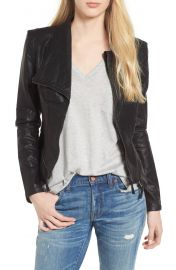 Faux leather jacket by Blank NYC at Nordstrom