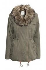 Faux Fur Hood Parka at H&M