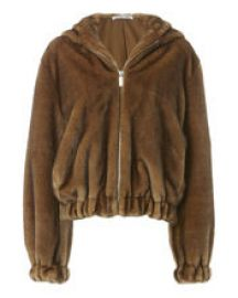 Faux Fur Hooded Bomber Jacket by Helmut Lang at Shopbop