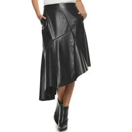 Faux Leather Asymmetrical Skirt by Apt. 9 + Cara Santana at Kohls