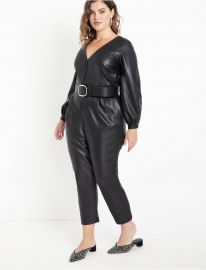 Faux Leather Jumpsuit by Eloquii at Eloquii