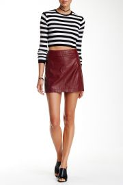 Faux Leather Mini Skirt at Nordstrom Rack