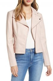 Faux Leather Moto Jacket at Nordstrom