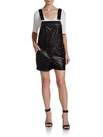 Faux Leather Overall Shorts at Saks Off 5th