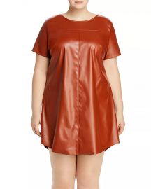 Faux-Leather T-Shirt Dress at Bloomingdales