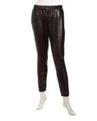 Faux Leather Track Pants at Last Call