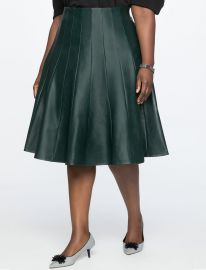 Faux Leather Trumpet Skirt  at Eloquii