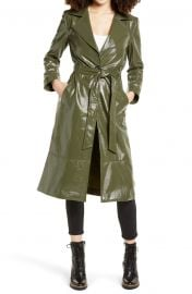 Faux Patent Leather Trench Coat at Nordstrom