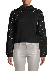Faux Pearl-Embellished Sweater at Saks Off 5th