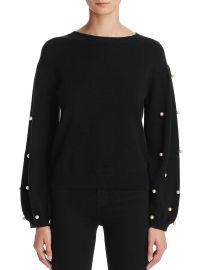 Faux Pearl Sweater by Sunset  Spring at Bloomingdales